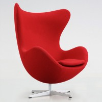 Кресло Egg swan (Arne Jacobsen Style) A219 red