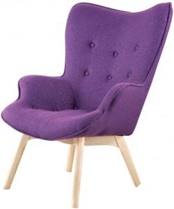 Дизайнерское кресло Крылья Ангела (Angels Wings), пурпурный кашемир