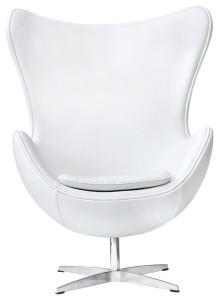 Дизайнерское кресло Egg chair (Arne Jacobsen Style) A219 whitePU