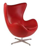 Дизайнерское кресло Egg chair (Arne Jacobsen Style) A219 redPU